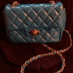 Handbags - Beautiful Turquoise Quilted Crossbody Purse
